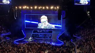 Elton John dedicates song to Ric Ocasek and Eddie Money at the Chase Center