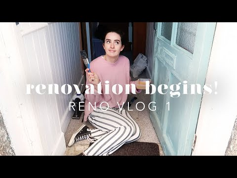 OUR CORNISH COTTAGE: THE RENOVATION BEGINS! RENO VLOG 1