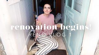 OUR CORNISH COTTAGE: THE RENOVATION BEGINS! RENO VLOG 1