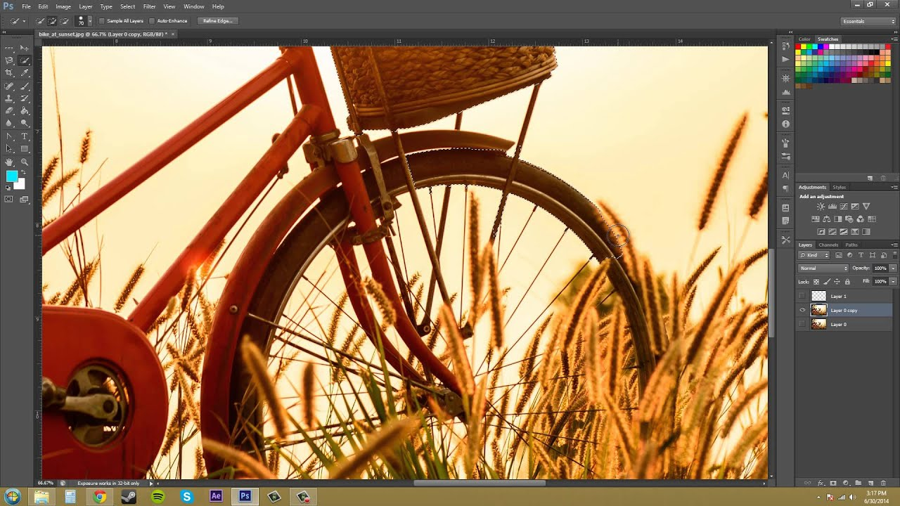 Photoshop cs6 tutorial 34 quick selection tool youtube baditri Choice Image