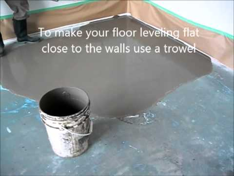 Self Leveling Floor Compound Howto Prepare And Put Concrete Floor - Cost of self leveling concrete floor