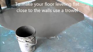 Self Leveling Floor Compound: How to Prepare and Put
