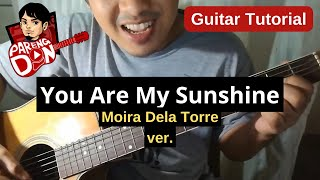Guitar Lesson: You Are My Sunshine - chords and plucking tab