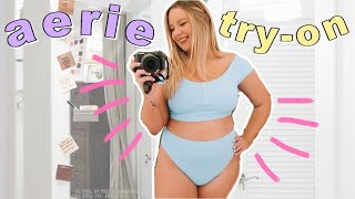 In today's video, we're going inside the fitting room at Aerie! I love Aerie for their body positivity (even though I look forward to them further extending their sizing ...
