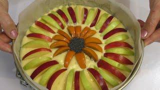Нежная Творожно-Яблочная шарлотка /Самый Нежный Пирог/Тесто для пирога