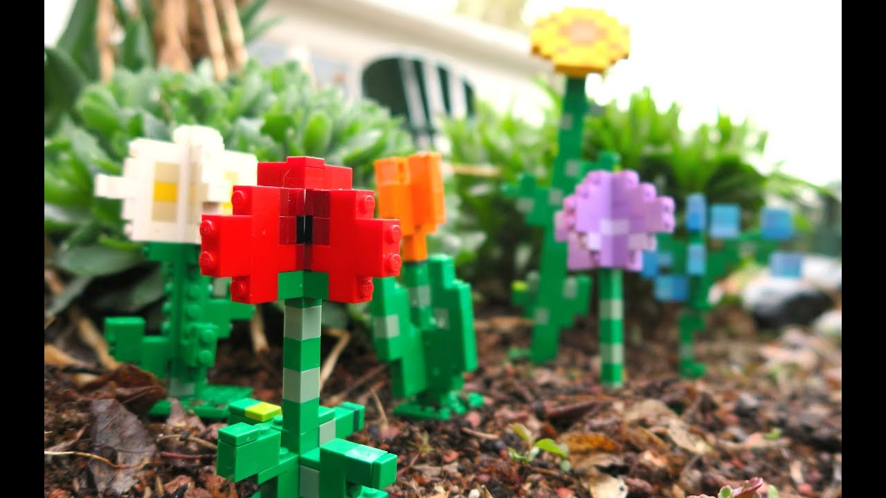 LEGO Minecraft Flowers