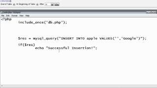Simple / Basic Insertion of Records into Database: PHP & MySQL