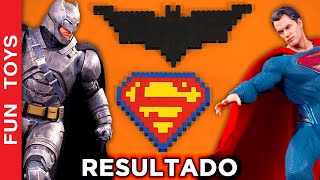 Result: Super-Heroes Battle! #TeamBatman or #TeamSuperman ? Who is the winner? #DIY #Lego #Minecraft