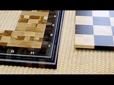 Как сделать  торцевую шахматную доску