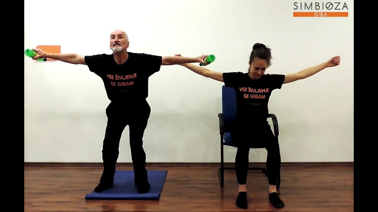 Simbioza Giba: Vaji - odmikanje in primikanje rok (polčep & v sedu)