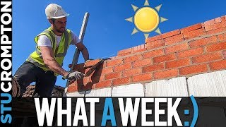 Great Week For Bricklaying, Construction Vlog