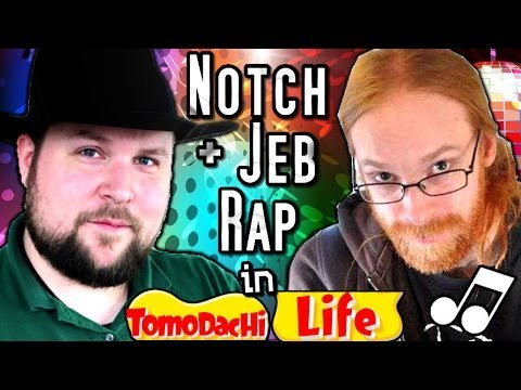 NOTCH Amp JEB RAP BATTLES Tomodachi Life YouTube