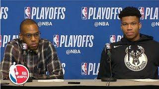 Giannis Antetokounmpo: Bucks 'did a great job setting the tone' in Game 1 vs. Pistons | NBA on ESPN