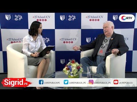 Lech Walesa - Premio Nobel de la paz en Sigrid.PE