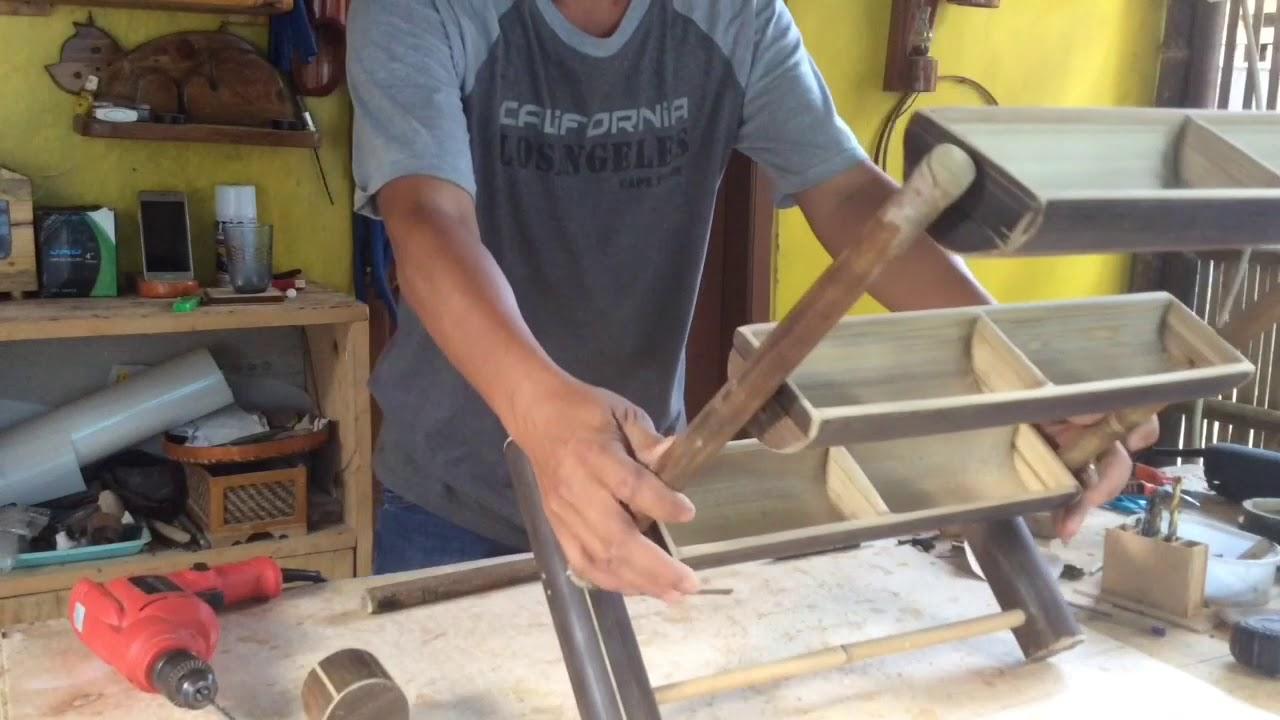 Kerajinan Dari Bambu Sederhana Membuat Rak Susun Youtube