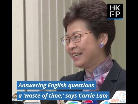 Video: Answering questions in English is a waste of time, says Hong