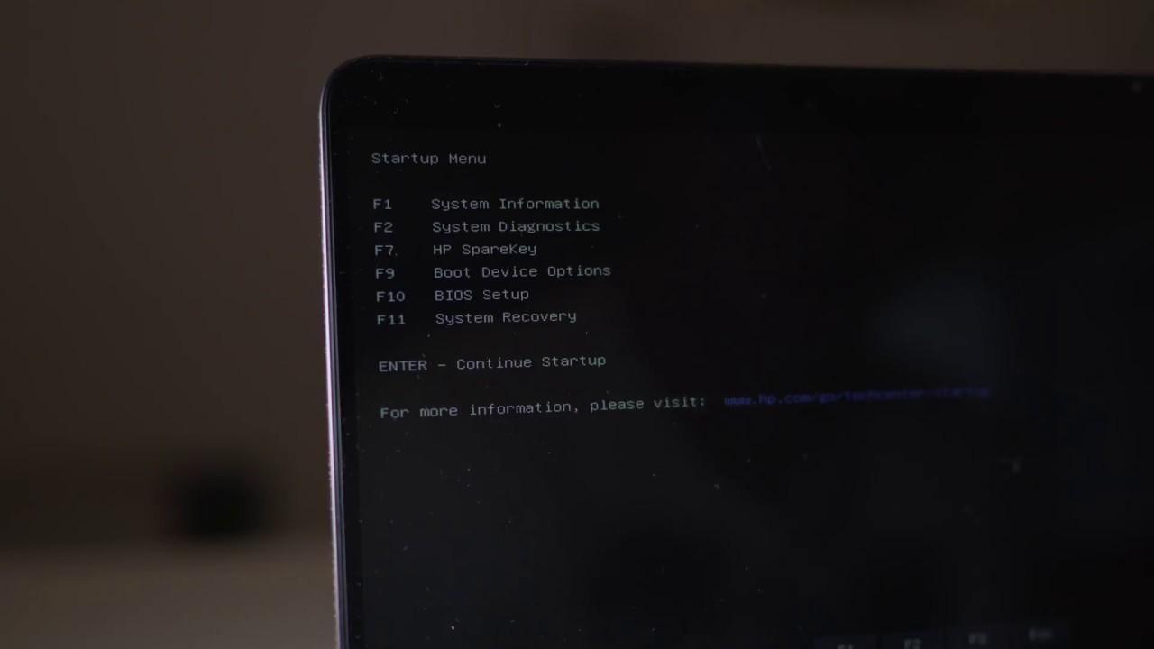 HP Laptop Startup Boot Menu - Quick Guide