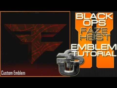 Faze Heist Lava Logo Call Of Duty Black Ops 2 Emblem Tutorial