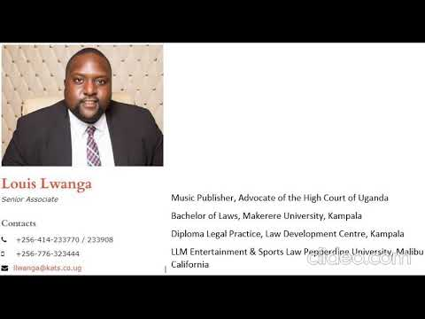 Download UPRS Engagement with Media and Entertainment Lawyer Louis Lwanga on Copyright