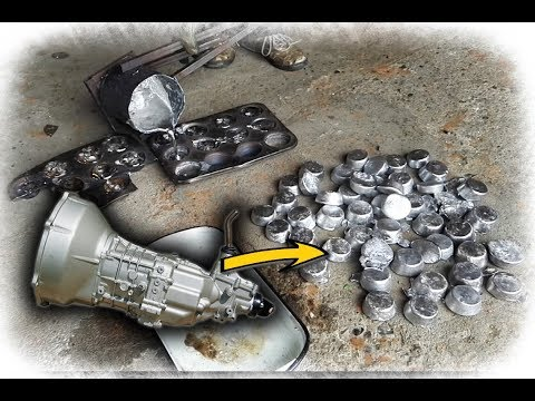 Melting Gear Box To Make 100 Aluminum Ingots
