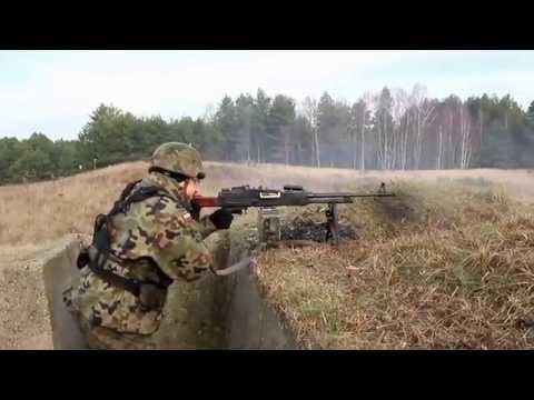 12 batalion dowodzenia Ułanów Podolskich - strzelanie z UKM