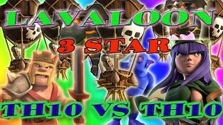 Th10 Air Strategy Gobolaloon 3 Star | TH10 VS 10 3 Star | Clash Of Clan