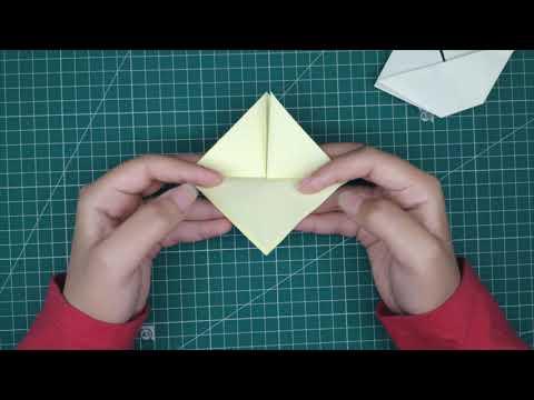 How to make 2D paper sailboat طريقه عمل مركبه ورقيه بفن الاوريجامي