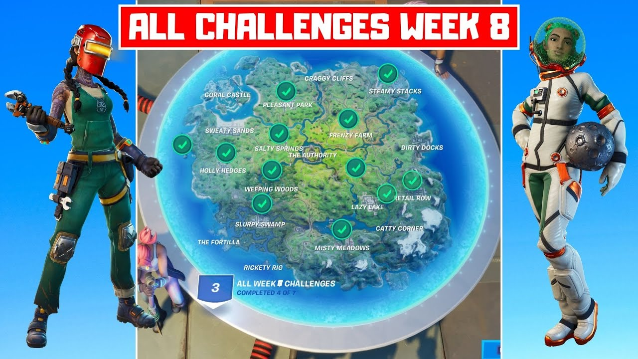 All Week 8 Challenges Guide! - Fortnite Chapter 2 Season 3