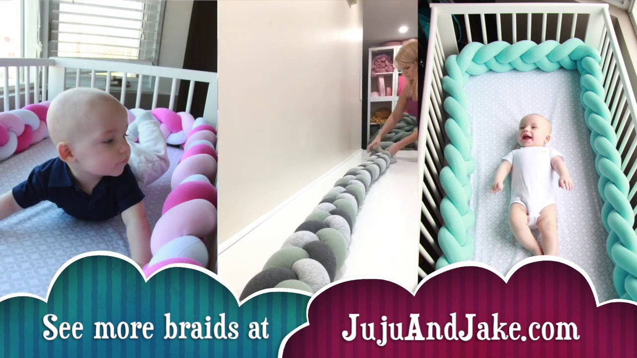 DIY HOW TO BRAID A 3 COLOR BRAIDED CRIB BUMPER - YouTube