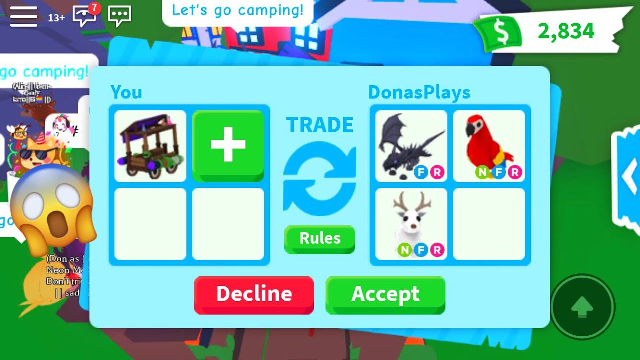 What People Trade For A Witch S Caravan Roblox Adopt Me Youtube