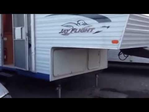 Jay Auto Sales >> 2005 Jayco Jay Flight 5th wheel travel trailer REAR BUNKS clean - YouTube