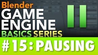 Blender Game Engine Basics Tutorial #15 : PAUSING #b3d #gamelogic thumbnail