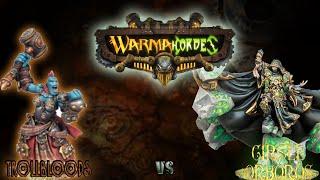 Warmachine & Hordes - Trollbloods (E-Grissel) vs. Circle Orboros (Bradigus) - 50pt Battle Report