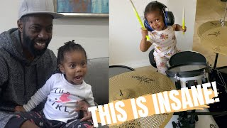 2yr old reacts to her instant viral video!