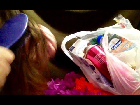 60 Mins. Rambling, Hair Brushing, Empties, ASMR, Whispers, Crinkling,Tapping, Chewing Gum too😊