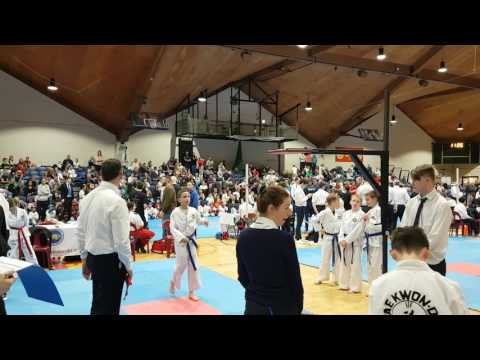 Farid competing in the special techniques at Taekwondo Dublin Open 2017