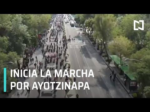 Marcha por Ayotzinapa, a 5 años de la desaparición de los 43 normalistas