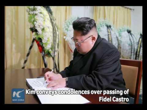 North Korea's top leader conveys condolences over passing of Fidel Castro