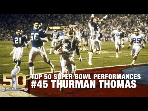 #45: Thurman Thomas Super Bowl XXV Highlights | Top 50 Super Bowl Performances