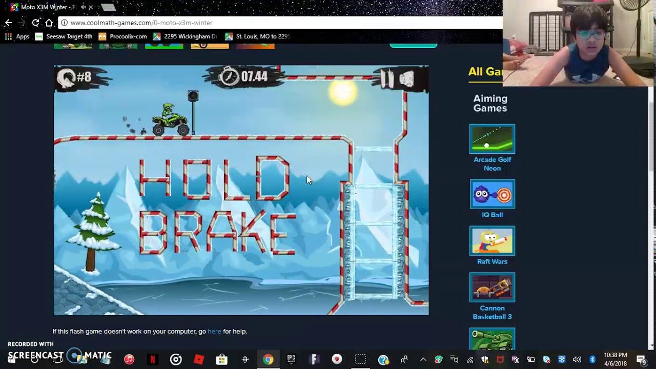 Cool Math Games Moto X3m Winter Levels 1 16 Youtube