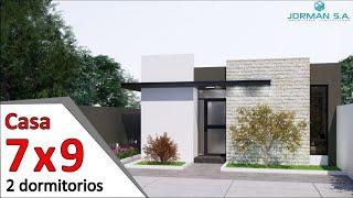 modelos de casas pequeñas y bonitas Casa 7x9 metros YouTube