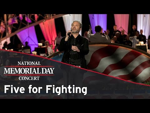 Five for Fighting performing on the 2017 National Memorial Day Concert