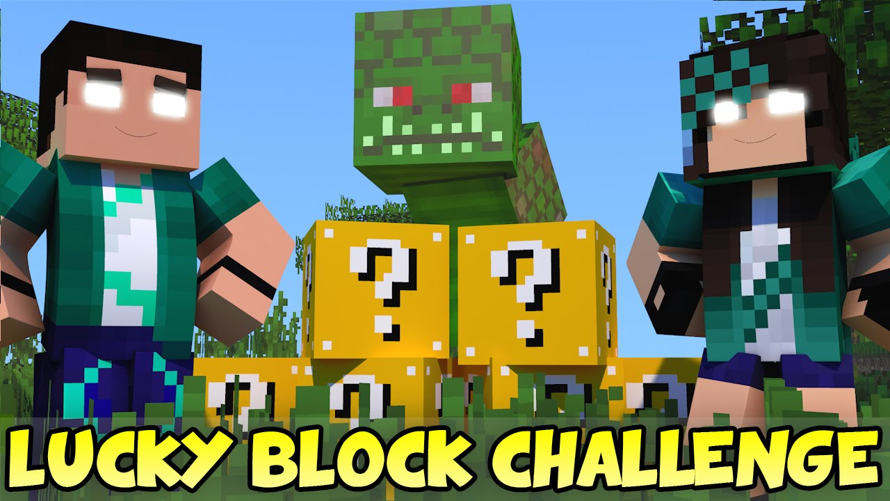 Minecraft Com The Game : Minecraft com namorada naga challenge games lucky block