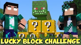 minecraft com namorada naga challenge games lucky block mod mini game com mods
