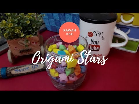 origami Star | origami lucky star | diy paper star | puffy star by rawah k&c