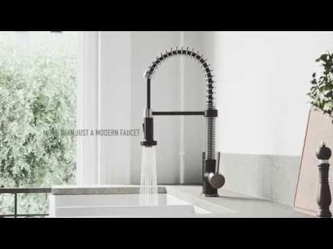 VIGO Edison Pull-Down Kitchen Faucet with FloodSense™ Technology