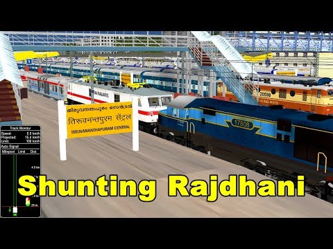 A Busy Day In Thiruvananthapuram Central (Trivandrum) || Shunting Train || IR In MSTS Open Rail
