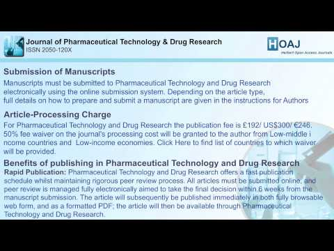 Journal of Pharmaceutical Technology & Drug Research