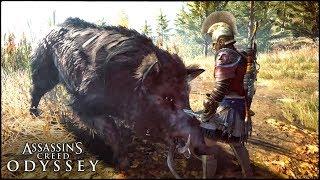 ВСТРЕЧА С КАЛИДОНСКИМ ВЕПРЕМ - Assassin's Creed: Odyssey [Опасный мифический зверь!]