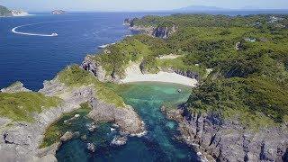 [ 4K Ultra HD ] 東京絶景アイランド「式根島」TOKYO ISLANDS - SHIKINE ISLAND (Aerial Drone shots)